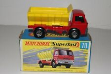 MATCHBOX SUPERFAST #70 FORD GRIT SPREADER TRUCK, 5-SPOKE WHEELS, NICE, BOXED