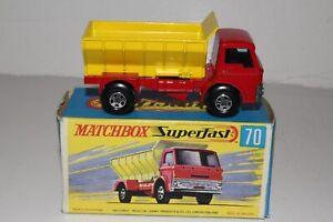 MATCHBOX SUPERFAST #70 FORD GRIT SPREADER TRUCK, 5-SPOKE WHEELS, NICE, BOXED