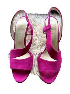 Hobbs Pink Seude Slingback Sandals 39/6 NEVER WORN