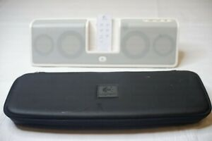 Logitech MM50 iPod - iPhone Rechargeable Speaker With Zippered Case And Remote!!