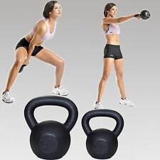 Pair of Kettle Bell 12 &16 kg Cast Iron Kettlebell Weights Bells Gym Exercise