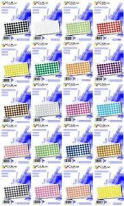 8mm Coloured Dot Stickers Self Adhesive Round Coloured Labels Paper Sticky Dots