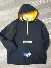 Rare Starter Jacket Coat XL Men's Black And Yellow NWT Pullover $225