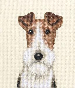 WIRE FOX TERRIER dog, puppy Full counted cross stitch kit  *FIDO STITCH STUDIO