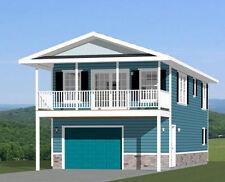 20x40 House -- 2 Bedroom 1.5 Bath -- 1,053 sq ft -- PDF Floor Plan -- Model 7B