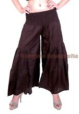New Women Brown Cotton Palazzo Harem Pants Dance Trousers Afghani Yoga Hippie