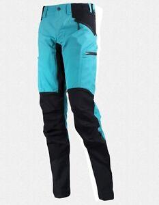 Lundhags Makke Pant Women Turquoise Elastic Ladies Hiking Trousers Size 42