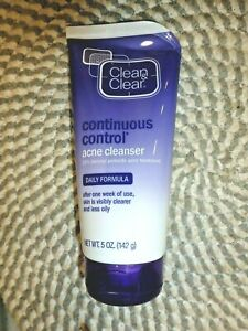 CLEAN & CLEAR~~CONTINUOUS CONTROL~~10% BENZOYL PEROXIDE~~ACNE CLEANSER 5 OZ