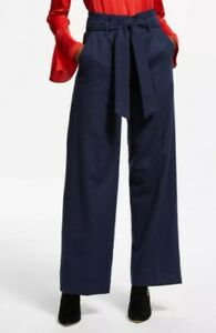 Boden Rosemoor Paperbag Trousers, Navy Size 16 Lightly Worn, Great Condition