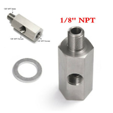 1Pcs 304 Stainless Steel Male to Female 1/8'' NPT Oil Pressure Sensor Adapter