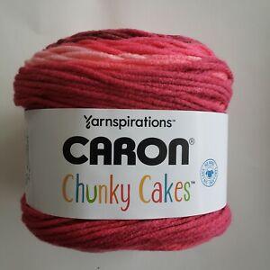Caron Chunky Cakes Yarn Cherries Jubilee Super Bulky Crafts Knit Crochet