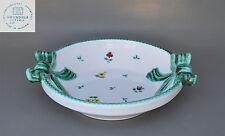 Gmundner Keramik Austria - Schale mit Schlaufenhenkeln und floralem Dekor