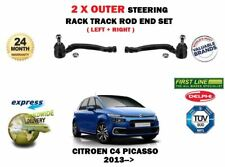 FOR CITROEN C4 PICASSO 2013-> 2X OUTER LEFT + RIGHT STEERING RACK TRACK ROD END