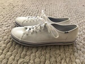 Ladies Excellent White Keds Kickstart Canvas Sneakers Sz 40