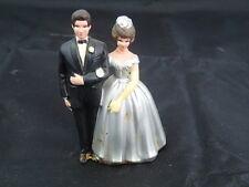 """Vintage WILTON #043 Couple CAKE TOPPER Wedding ELEGANT 3 1/2"""""""