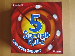 5 Second Rule Board Game  NEW SEALED