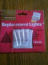 Vintage Woolworth Christmas Replacement Lights 2.5 Volt for 35 & 50 Light Sets