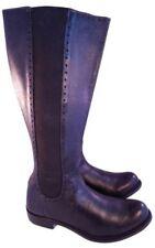 Size US 6 M John Fluevog woman boots tall riding equestrian black leather EUC