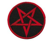OFFICIAL LICENSED - PENTAGRAM - EMBROIDERED WOVEN SEW-ON PATCH METAL WICCA