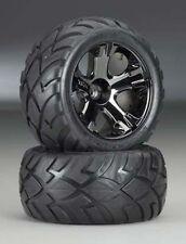 Traxxas Nitro Stampede/Rustler Black Chrome All-Star Wheels/Anaconda Front Tires