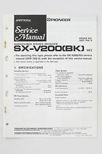 PIONEER SX-V200 BK A/V STEREO Receiver ADDITIONAL Service-Manual/Schaltplan o73