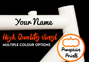 2 x Personalised Name Bike Frame Stickers For Cycle Bicycle - Colour Choices!