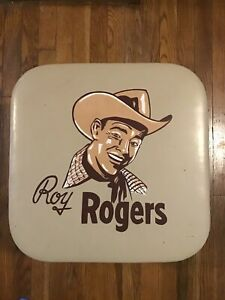 Roy Rogers Leather Toy Chest Ottoman with Lid