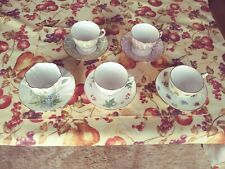 New listing Assorted bone china tea cups/saucers, gold leafed, made in England total of 5