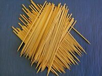 """BAMBOO WOOD SKEWERS GRILL SHISH KABOBS BARBECUE/FIVE SIZES: 4"""", 6"""", 8"""", 10"""", 12"""""""