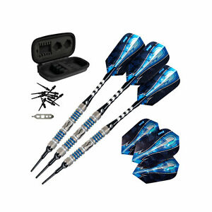 Viper Astro Tungsten Soft Tip Darts Blue Rings 16 Grams with Travel Case, Blue