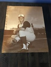Vintage Cincinnati Reds Pete Rose 14x11 Black And White Photo,