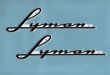 Lyman Boat Hull Tags-New Style-Large Size For Inboards