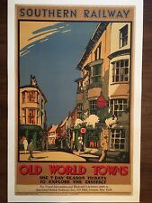 Vintage Travel Poster 1932 Southern Railway Old World Towns by Leslie Carr