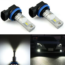 JDM ASTAR 2x 1200LM H11 High Power CSP Xenon White LED Fog DRL Lights Bulbs Lamp