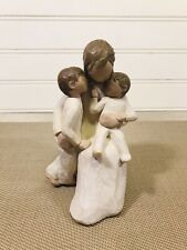 Willow Tree Quietly Figurine Susan Lordi 2002 Demdaco Mother Children