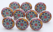 Colorful Ceramic Knobs Ceramic Door Knobs Kitchen Cabinet Drawer Pull Lot of 10