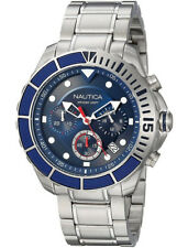 "Nautica Men's Quartz Chronograph NAPPTR004 XL "" Puerto Rico "" Stainless Steel"