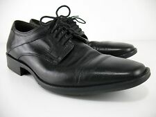 Johnston & Murphy - Larsey Oxford - Cap Toe - Black Sheepskin - Men's 11