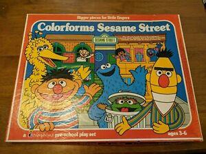 VINTAGE 1977 Colorforms CTW Sesame Street - Hooper's Store - Used
