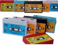 Lecteur MP3 à carte mémoire en forme de cassette (Vintage) + écouteurs