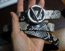 Valentino by Mario Valentino Medium Baby Python-Embossed Leather Belt