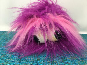 FLUFFY animated Purple Fluff Ball -jiggles & plays Who let the dogs out -motion