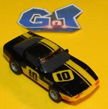 AURORA AFX TOMY CHEVY CORVETTE YELLOW BLACK #10 Slot Car HO Running Chassis