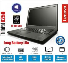 LENOVO THINKPAD X250 LAPTOP CORE i5 5th 2.20GHZ 4GB RAM 120 SSD WEBCAM WARRANTY