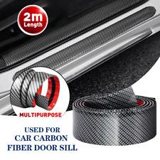 Car Anti Scratch Sticker 2M Carbon Fiber Door Plate Bumper Sill Scuff Cover EOH