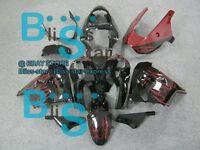 Red Flames Fairing Bodywork Plastic For Kawasaki Ninja ZX-9R 2002-2003 31 C4