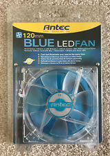 Antec 120 mm Blue LED Fan Brand New NIP 3 Lights Multiple Power Source 2003