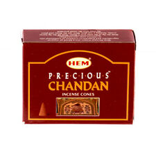 PRECIOUS CHANDAN  - HEM INCENSE CONES PACK OF 1 (1 PACK=10 CONES)
