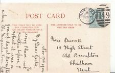 Family History Postcard - Burrell - Old Brompton - Chatham - Kent - Ref 1424A