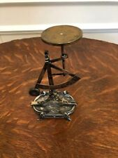 ANTIQUE VINTAGE FRENCH ART NOUVEAU SILVERPLATE & BRASS  POSTAL SCALE  HALLMARKED